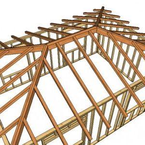 Кроквяна система вальмового даху: пристрій, схема, розрахунок, фото
