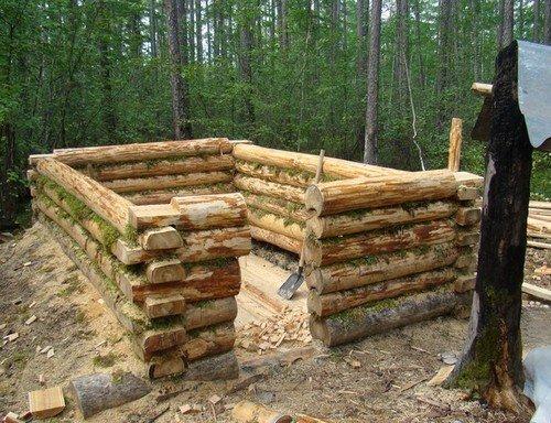 Построить домик из бревен своими руками 542