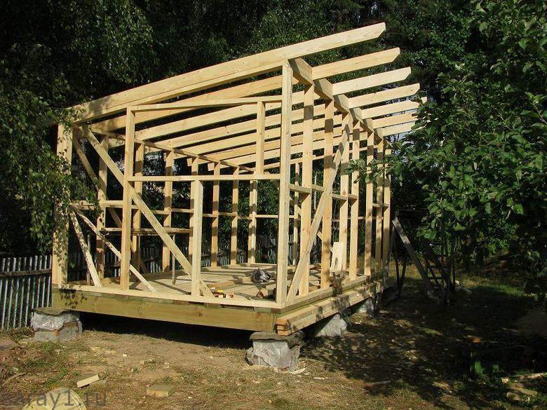 Как построить односкатную крышу своими руками фото