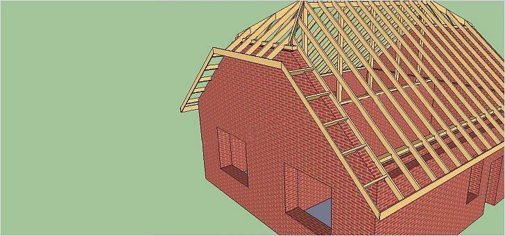 Как сделать ломаную крышу своими руками с карнизом и ендовой к ней 17