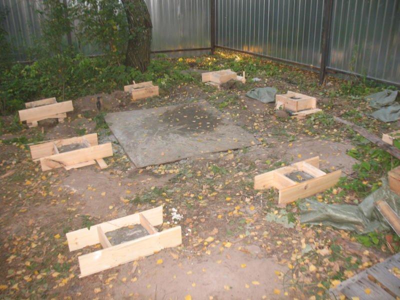 Как построить фундамент под сарай