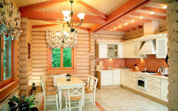 Как сделать обои в деревянный дом 367