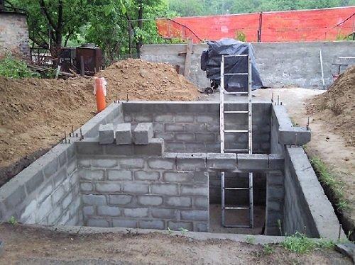 Гараж из бетонных блоков своими руками фото 41