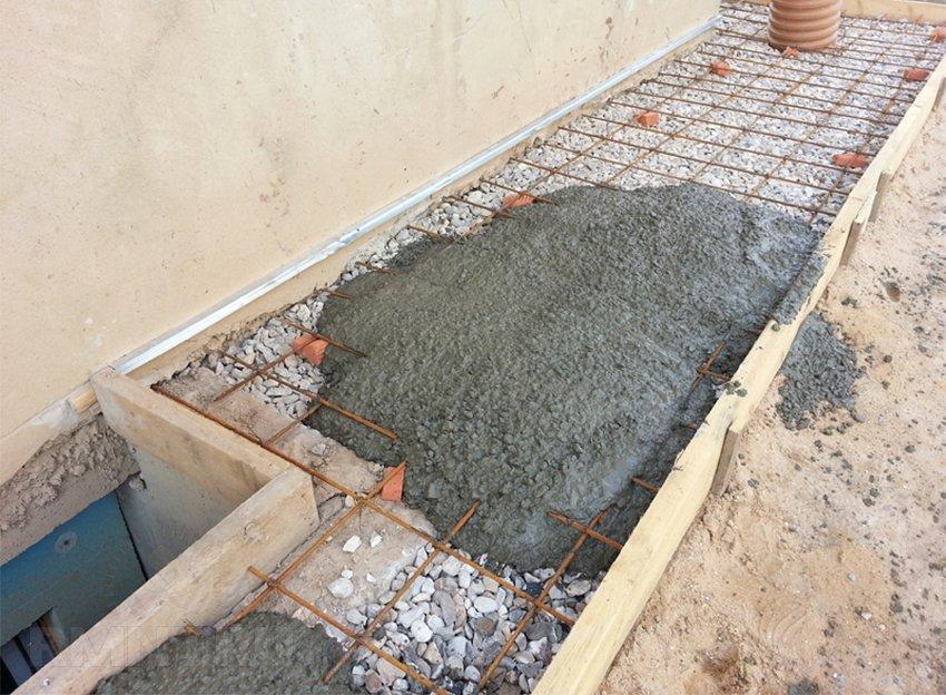 Как сделать бетонную отмостку вокруг дома видео