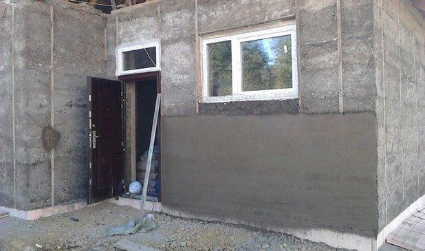Дом из монолитного опилкобетона своими руками 37