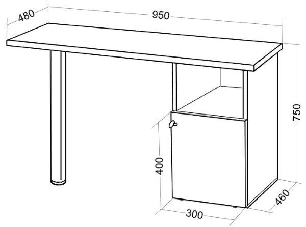 Стол для маникюра чертежи