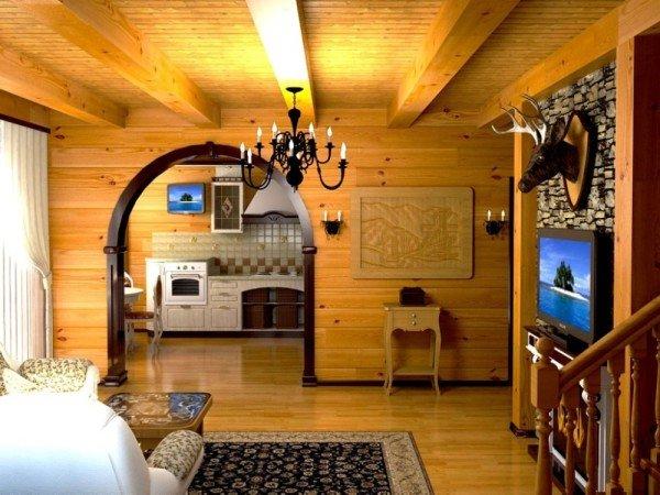 Дизайн дачного дома из бруса фото