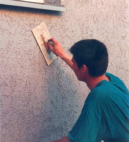 Штукатурка стен фасада своими руками