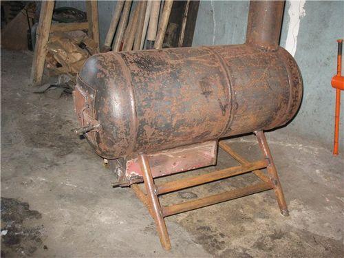 Печь из газового баллона своими руками на дровах