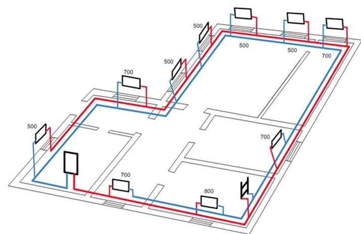 Схема подключения настенного газового котла для отопления