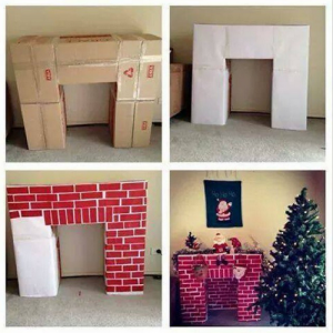 Камін з коробок на Новий Рік: покрокова інструкція своїми руками