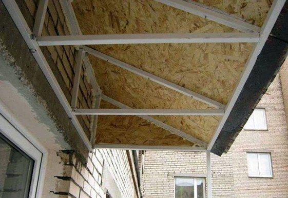 Обшить крышу балкон своими руками 53