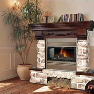 Декоративний вогнище: фальш камін з гіпсокартону своїми руками – фото в квартирі