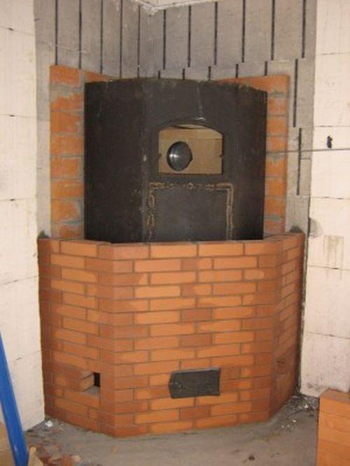 Печь в каркасном доме своими руками фото 33