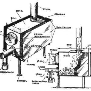 Буржуйка з газового балона своїми руками: схема, пристрій, принцип роботи, креслення буржуйки тривалого горіння, на дровах