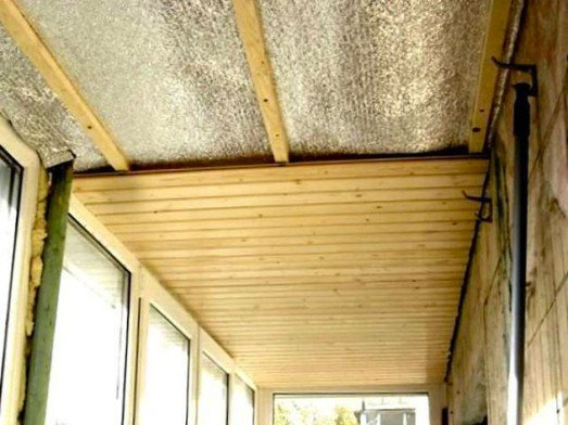 Утепляем потолок на лоджии своими руками 24
