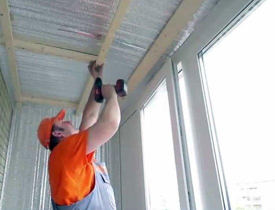 Как сделать пластиковый потолок на лоджии 466