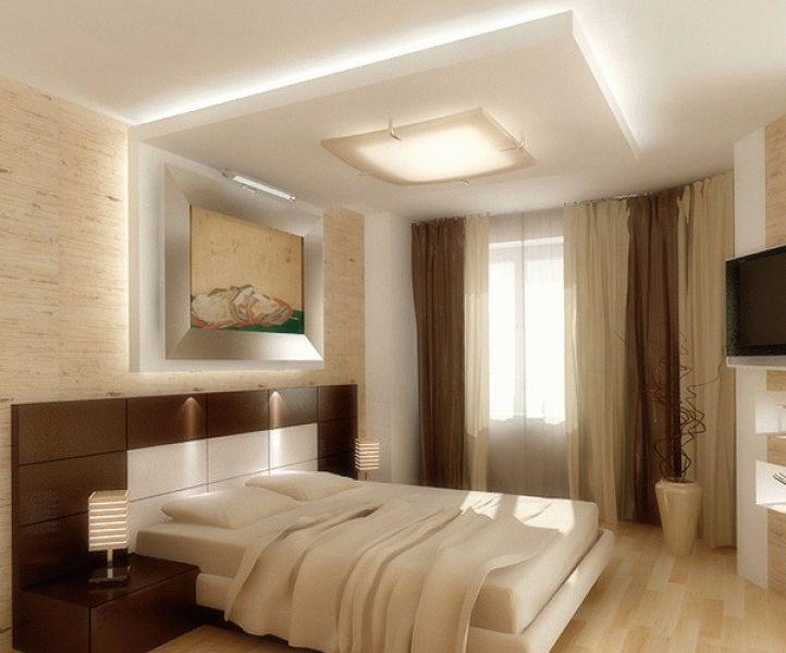Потолки из гипсокартона своими руками для спальни фото дизайн 45