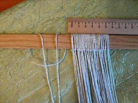 Как сделать шторы нитки своими руками 296