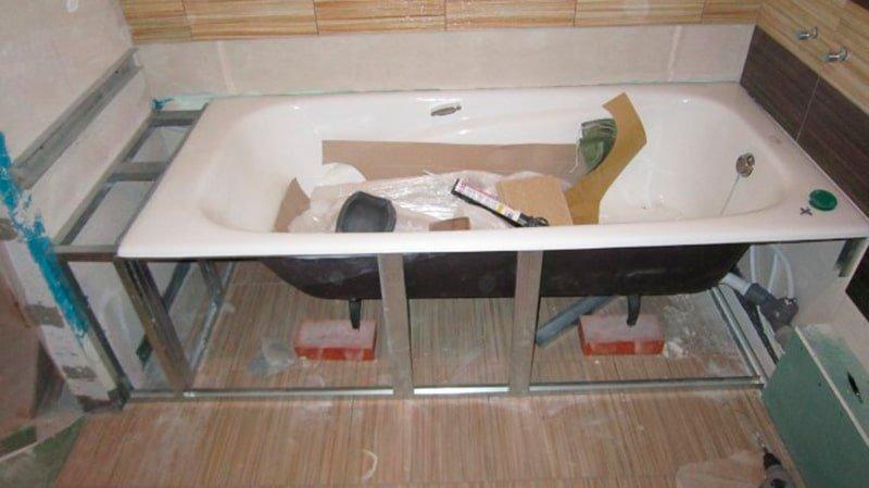 Как сделать экран своими руками для ванной