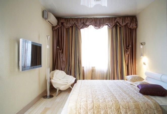 Дизайн спальни 9 кв.м в современном стиле для девушки