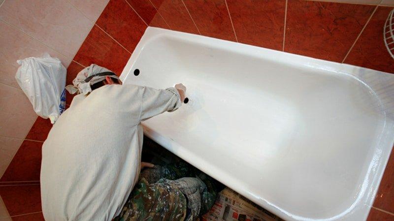 Реставрация ванн эмалью своими руками 38