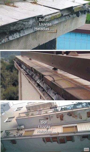 Відливи на відкритому балконі. ремонт.