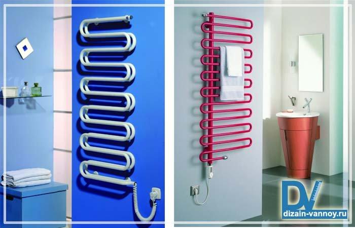 Електричні рушникосушки для ванної кімнати і фото змійовиків  1aadc7ce400f2