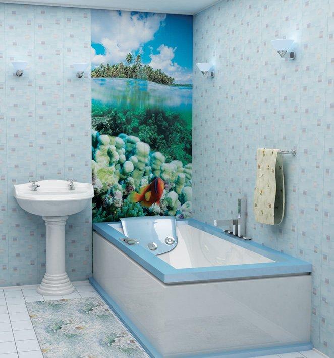 Фото дизайна ванной пластиковыми панелями