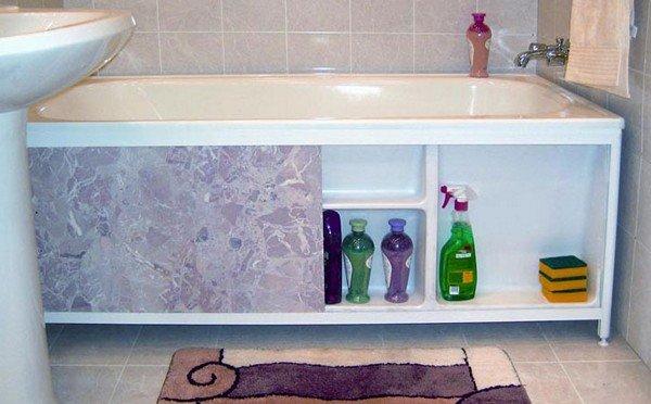 Как закрыть ванну сбоку своими руками 60
