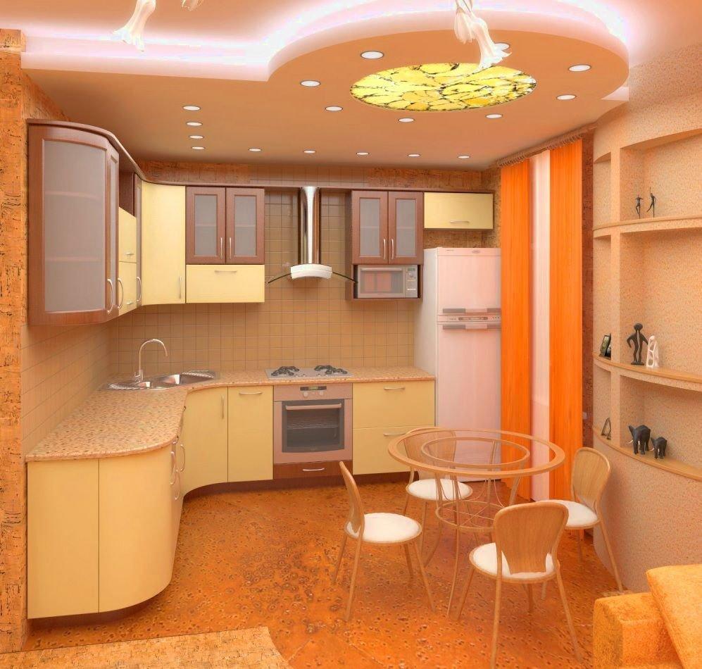 Потолок в кухни дизайн проекты 64
