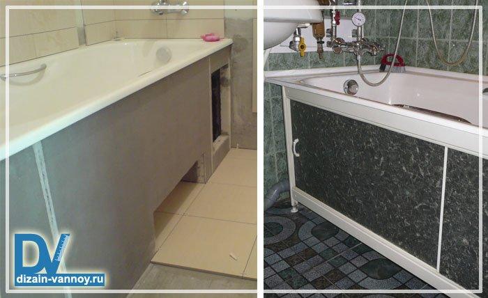 Как сделать экран в ванной своими руками из панелей 230