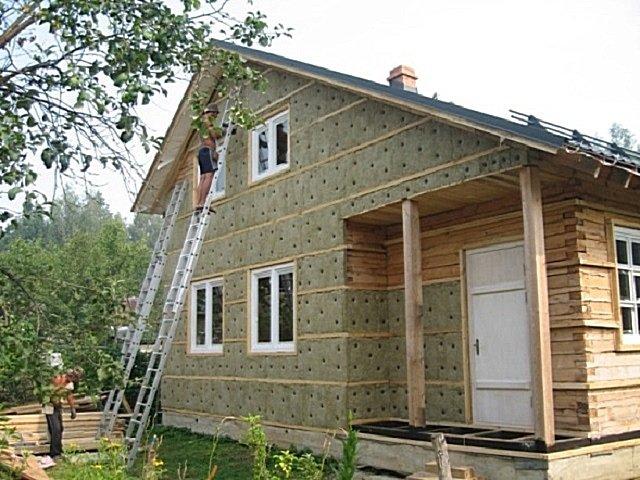 Утепление деревянного дома в частном доме 86