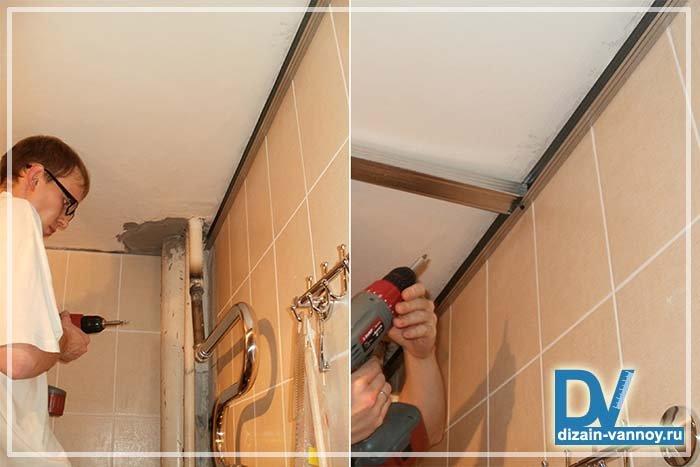 Как правильно сделать потолок в ванне панелями 80