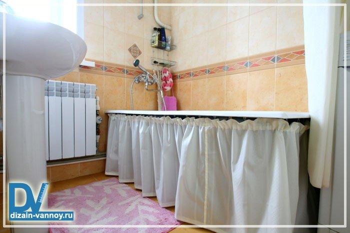 Как на ванной сделать шторки