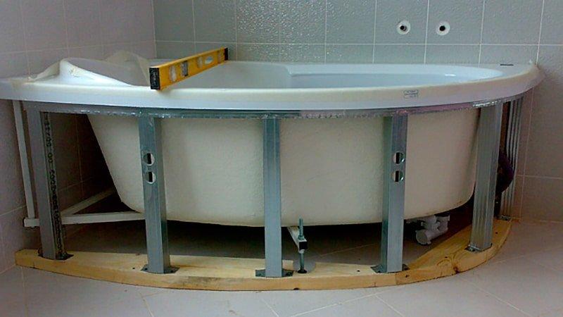 Как сделать каркас для ванны 131