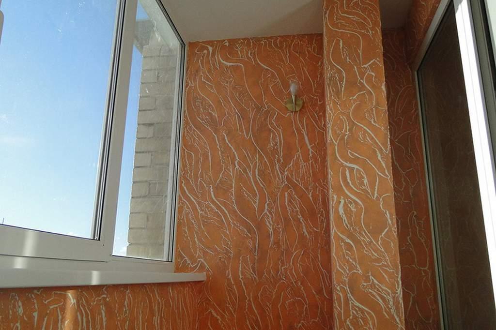 Декоративная штукатурка на балкон своими руками