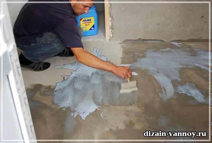 Положить плитку на бетонный пол своими руками
