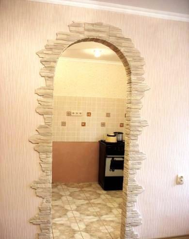 Оформление арки в квартире обоями своими руками 89