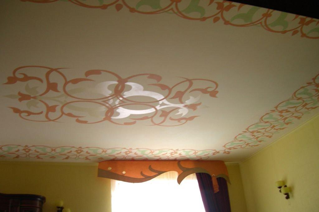 Как сделать рисунок на потолке краской