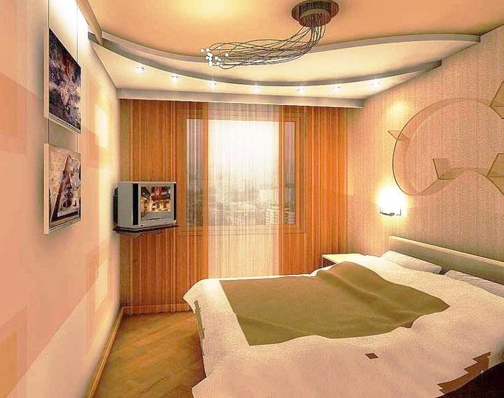 Натяжные потолки в небольшой комнате фото