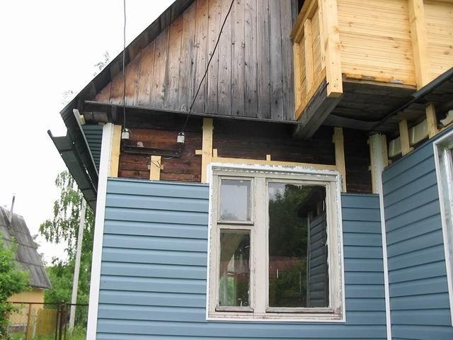 Как обшить сайдингом старый деревянный дом своими руками 98