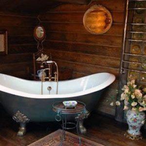 Ванна кімната в дерев'яному будинку: як зробити своїми руками + фото-приклади