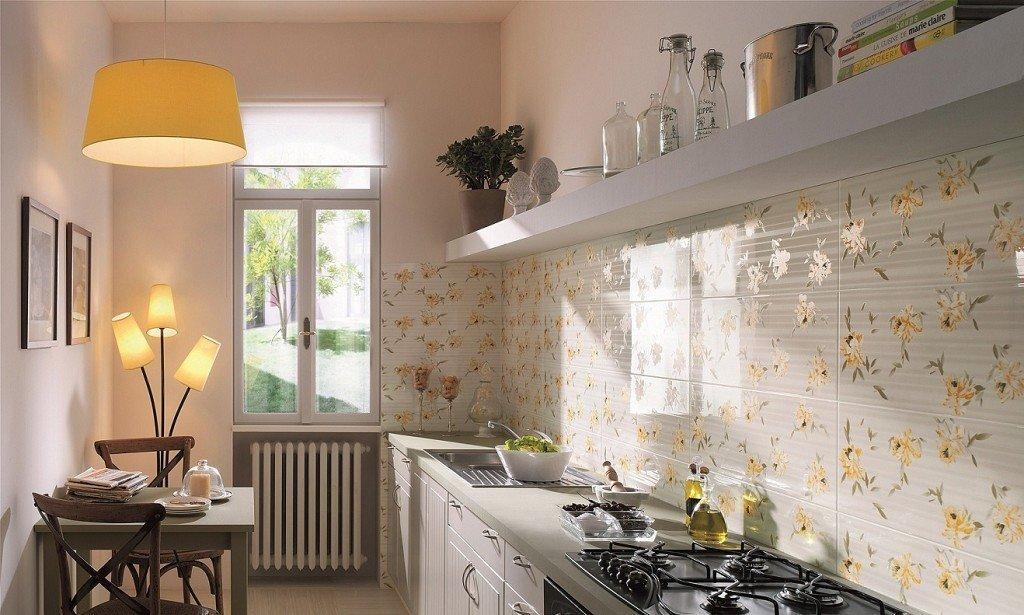 Интерьер кухни с плиткой фото дизайн
