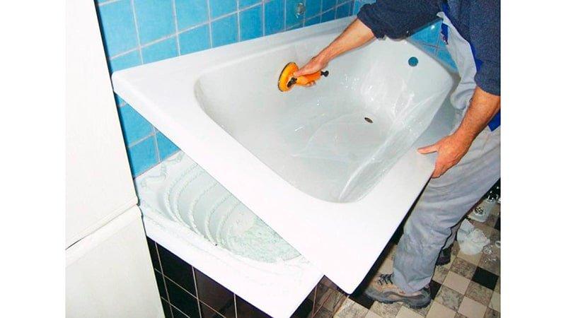 Купить акриловый вкладыш в ванну без установки