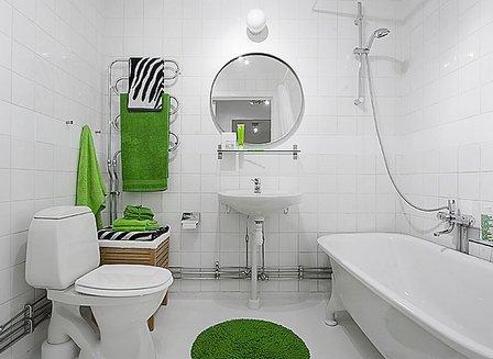 Дизайн ванной комнаты в белых тонах фото
