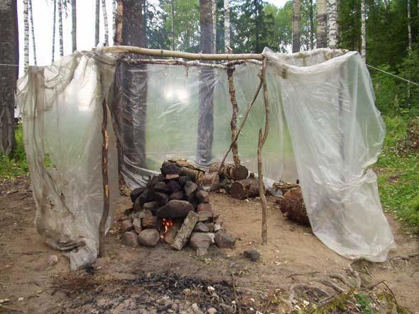 Самодельный шалаш в лесу своими руками 89