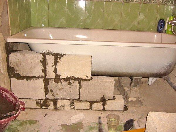 Установка ванни на цеглу: навіщо це робити і як правильно робити монтаж Ванна кімната