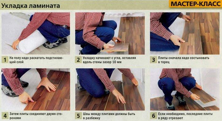 Как класть ламинат своими руками на деревянный 522