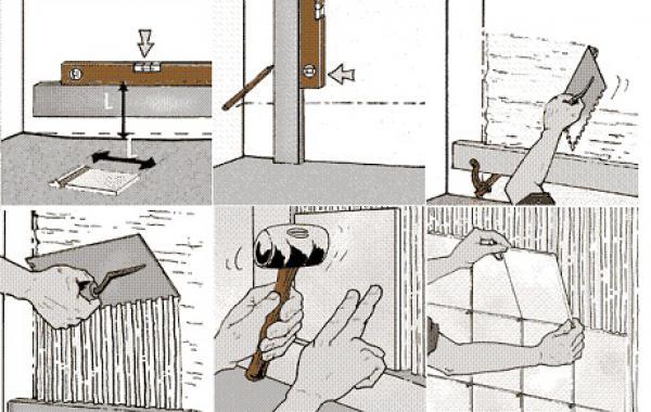 Укладка плитки на стену своими руками пошаговая фото инструкция 76